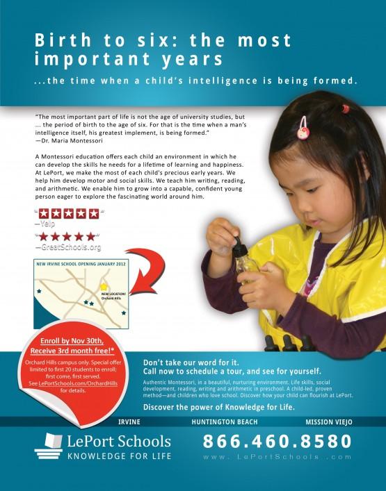 LePort Schools – Important Years Magazine Ad
