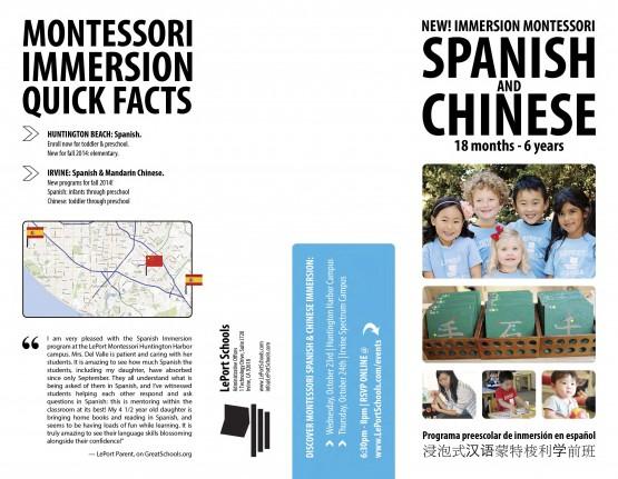 LePort Schools – New Immersion Montessori Brochure